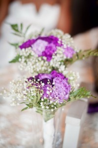 lavender table bouquets