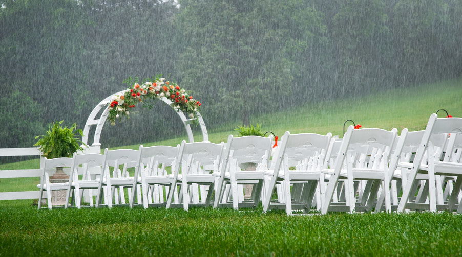 Working with Bad Weather on Your Wedding Day