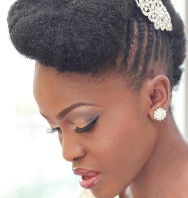 Glamorous Styles for Natural Hair Brides