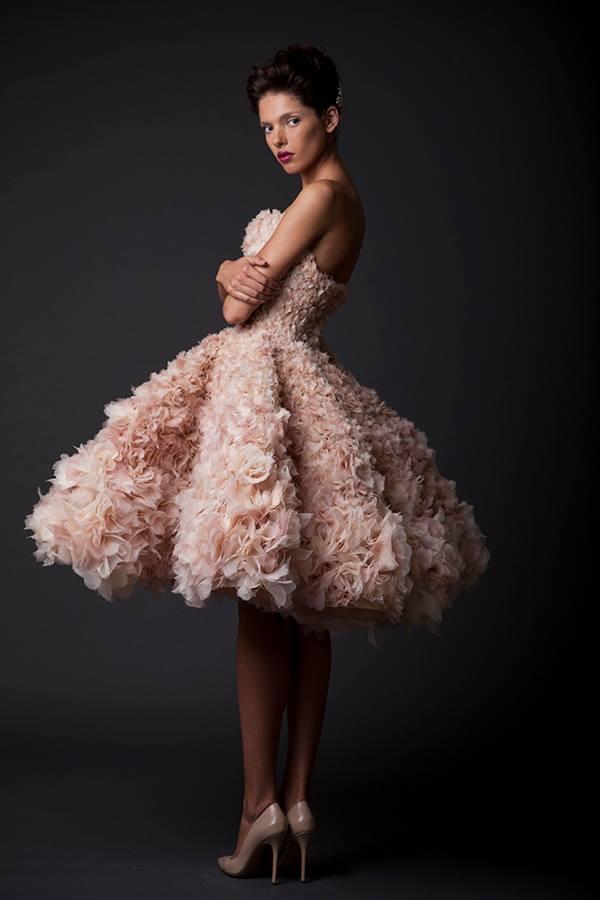 Krikor Short Pink Wedding Dresses