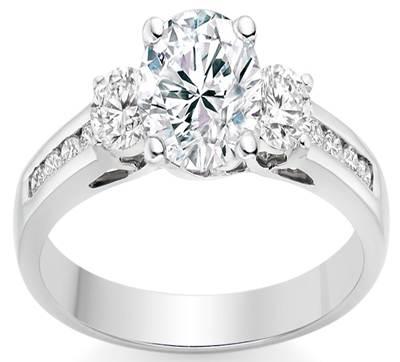 Round Cut 0.85 Carat Three Stone Engagement Ring in Platinum, £2,915