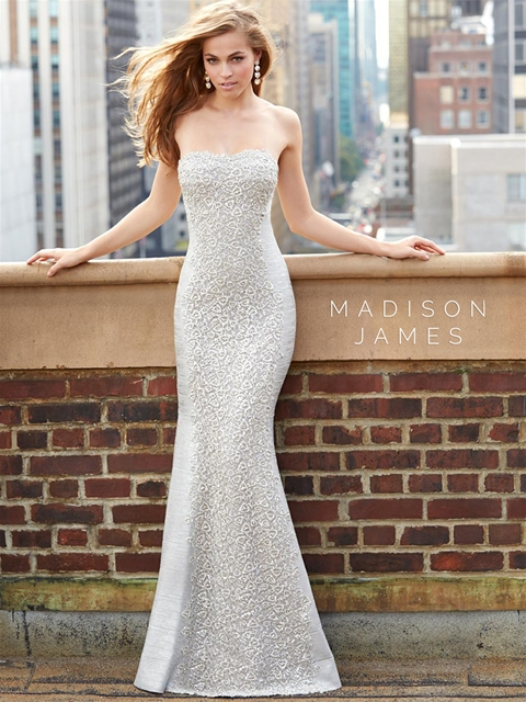 Dress of the Week – Madison James Strapless Sheath Gown