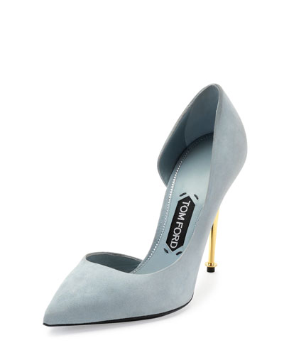 Shoe of the Week – Tom Ford Suede Blue Pump