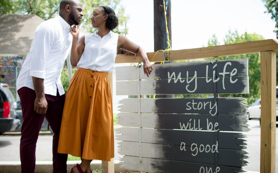 Adorable Bishop Arts District Engagement Shoot