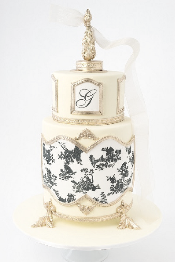 wedding cake bridal tribe sweet details toile