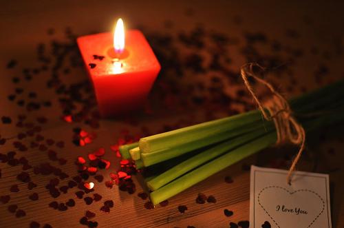 bridal tribe romance candle
