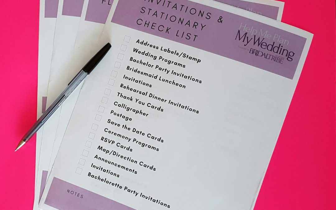 Free Wedding Checklists! For Organized Planning!