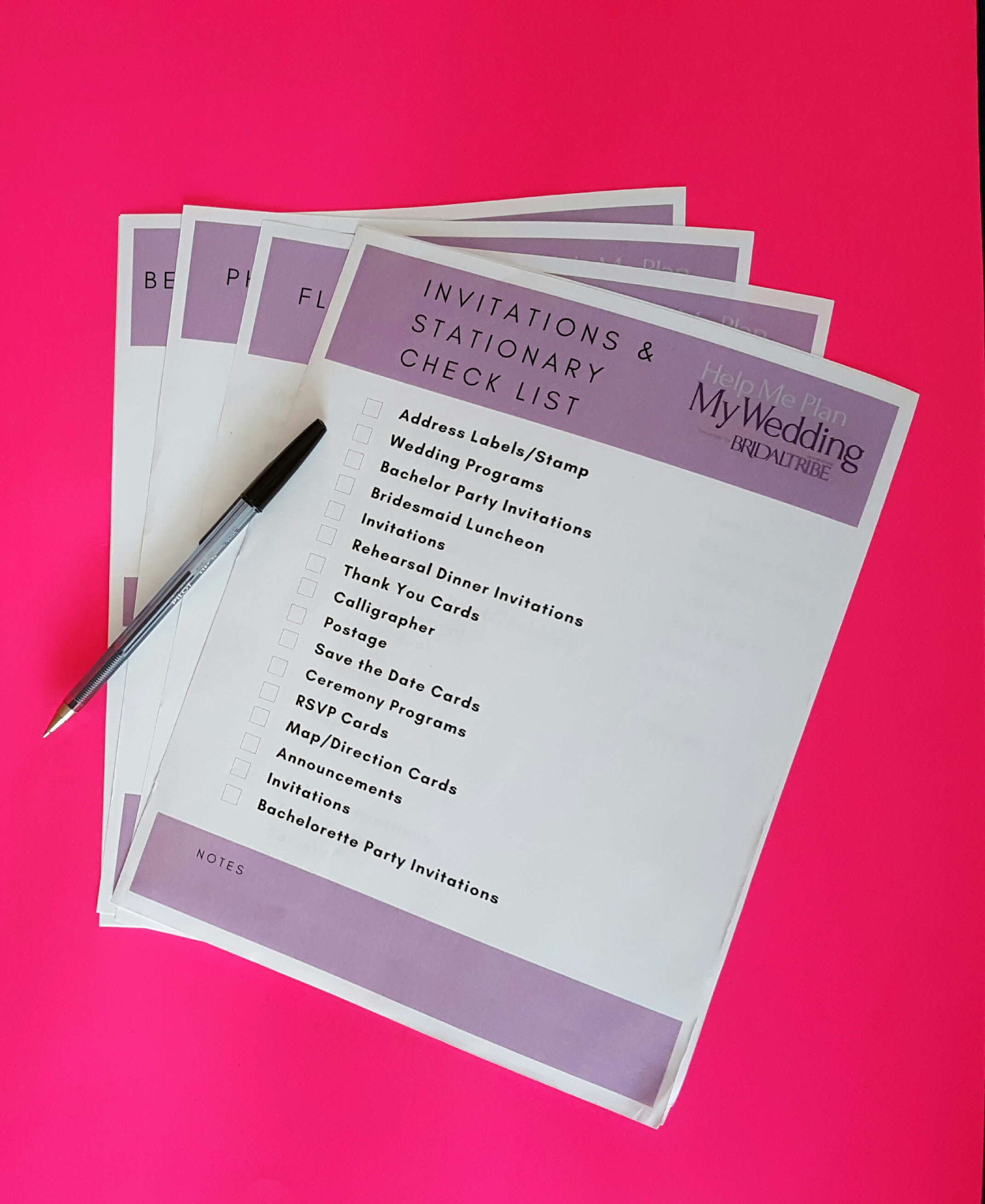 Free Wedding Checklists! For Organized Planning!