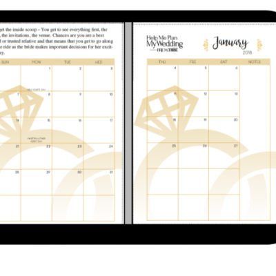 picture relating to Maid of Honor Printable Planner named Printable Planner Archives - Bridal Tribe
