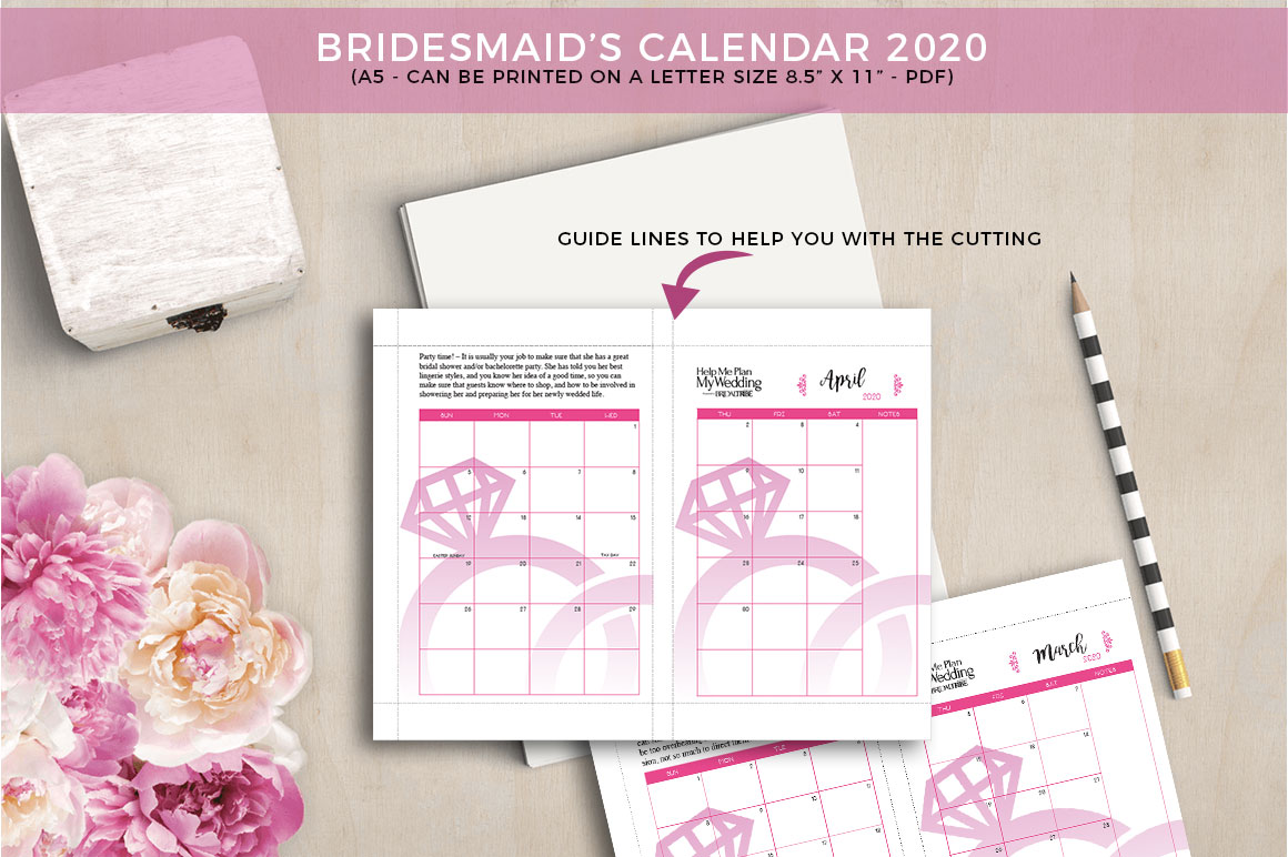 photograph about Maid of Honor Printable Planner identified as 2020 Bridesmaid Aid Me System My Marriage Regular Marriage ceremony Planner